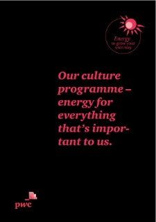 Our culture programme – energy for everything that's important to us.