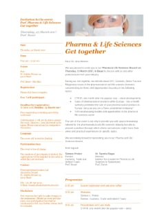 Pharma & Life Sciences Get together Basel March 2017