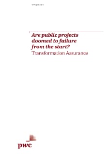 Are Public projects doomed to failure from the start?