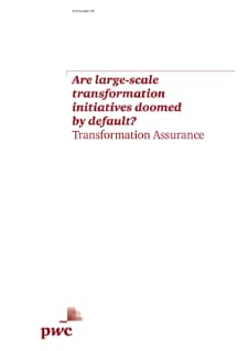 Are large-scale transformation initiatives doomed by default?