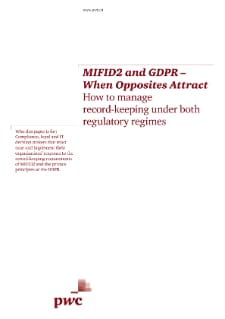 MIFID2 and GDPR – When Opposites Attract